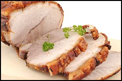 Roast pork and crackling